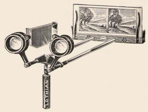 A stereoscope typical of ones from the 1900s. © Pearson Scott Foresman